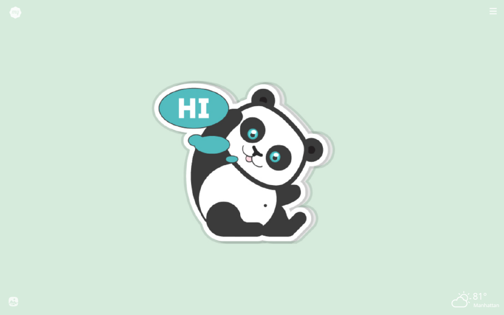 My Panda Emojis HD Wallpapers New Tab Theme