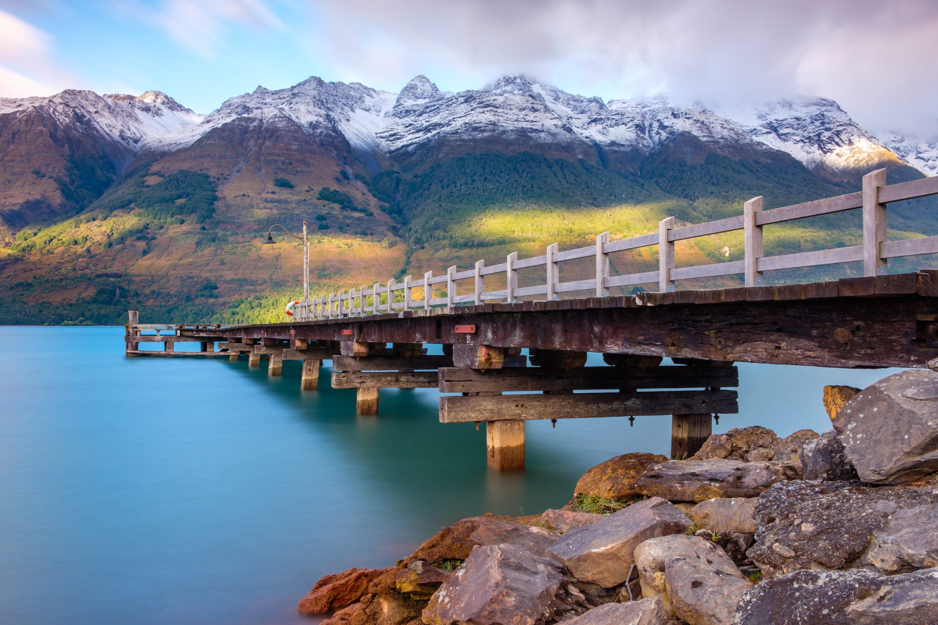 Glenorchy wharf pier New Zealand